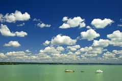 Lake Balaton Hungary royalty free stock photography