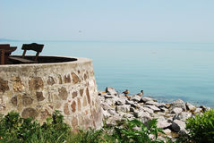 Lake Balaton, Hungary. Place for rest on Balaton lake, Hungary stock photos