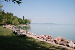 Lake Balaton, Hungary. Place for rest on Balaton lake, Hungary stock image