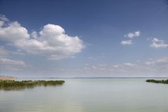 Lake Balaton near Szigliget Royalty Free Stock Photography