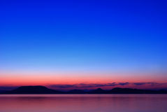 Lake Balaton at nightfall Royalty Free Stock Images