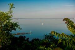 Lake Balaton And Sailboat Royalty Free Stock Image