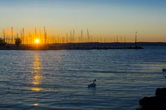 Lake Balaton Sunset stock photography