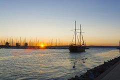 Lake Balaton Sunset stock photos