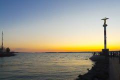 Lake Balaton Sunset stock image