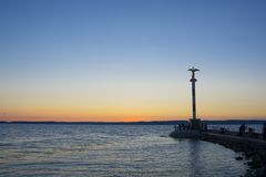 Lake Balaton Sunset royalty free stock image