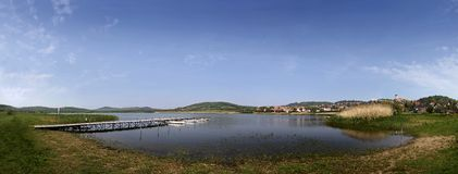 Lake Balaton in Tihany Royalty Free Stock Photos