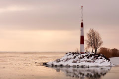 Lake Balaton in winter time,Hungary Royalty Free Stock Photography