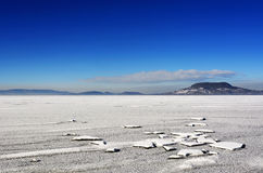 Lake Balaton in winter time Royalty Free Stock Image