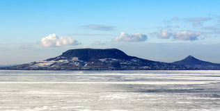 Lake Balaton in winter time Stock Photo