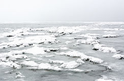 Lake Balaton in winter time Royalty Free Stock Photo