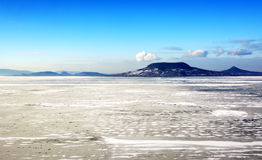 Lake Balaton in winter time Royalty Free Stock Photos