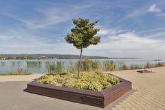 Lake Balatone shore in Keszthely, Hungary. Royalty Free Stock Images
