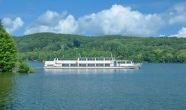 Lake Baldeneysee,Essen,Ruhrgebiet,Germany. Tourist Boat on Lake Baldeneysee in Essen,Ruhrgebiet,North Rhine westphalia,Germany stock photos