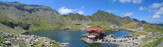 Lake Balea. In Fagaras Mountains, Romainia Stock Photo