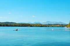 Lake of Banyoles, in Catalonia, Spain Stock Image