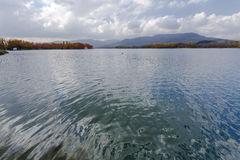 Lake Banyoles is the largest lake in Catalonia Royalty Free Stock Image