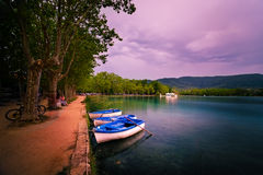 Lake Banyoles is the largest lake in Catalonia Stock Photo
