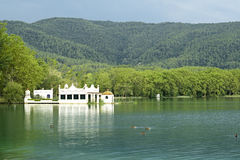 Lake Banyoles is the largest lake in Catalonia Stock Image