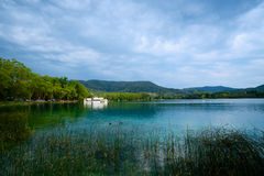 Lake Banyoles is the largest lake in Catalonia Royalty Free Stock Photos