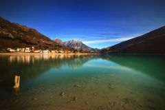 Lake of Barcis (italy Royalty Free Stock Images