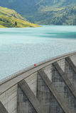 Lake and barrage Royalty Free Stock Images