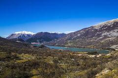 Lake of Barrea in Abruzzo in Italy Stock Photo