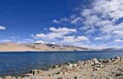 Lake in barren landscape Royalty Free Stock Images
