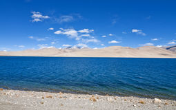 Lake in barren landscape Royalty Free Stock Photography