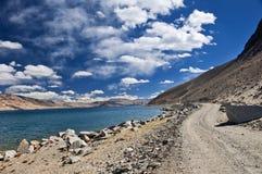 Lake in barren landscape Stock Photo