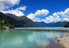 Lake Basomtso in Tibet Royalty Free Stock Photo