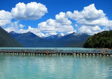Lake Basomtso in Tibet Royalty Free Stock Photo