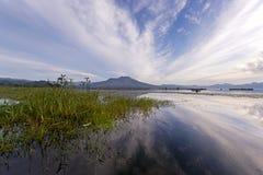 Lake Batur Bali -Indonesia. Sunrise at Lake Batur Bali -Indonesia Royalty Free Stock Images