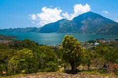 Lake Batur, Bali, Indonesien Arkivbilder
