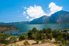 Lake Batur, Bali, Indonesien Fotografering för Bildbyråer