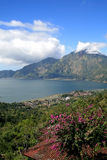 Lake Batur in the crater of the volcano, Indonesia Royalty Free Stock Photos