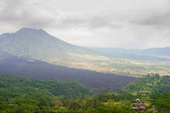 Lake Batur volcanic landscape, Bali, Indonesia Royalty Free Stock Photography
