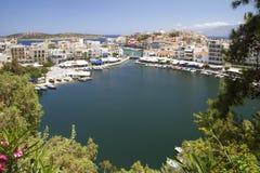 Lake-bay in Agios Nikolaos on the island of Crete Stock Image