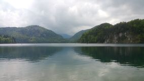 Landscape of Bayern. Lake in Bayern royalty free stock images
