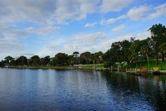 Lake bayou bank Stock Images