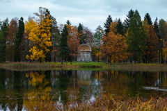 Lake in the beautiful autumn park Royalty Free Stock Photography