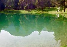 The lake. Beautiful lake on Autumn time stock photography