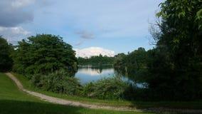 Lake. Beautiful lake in Milan Royalty Free Stock Photos