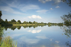 Lake with beautiful reflections in the water Stock Photography