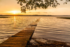 Lake. Beautiful sunrise at the lake Stock Image