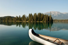Lake Beauvert at Jasper, Alberta, Canada Stock Photo