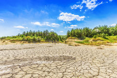 Lake bed drying up Royalty Free Stock Photos