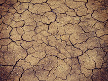 Lake bed drying up due to drought Stock Photography