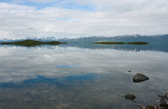 Lake behind polar circle Stock Photo