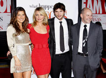 Lake Bell, Cameron Diaz, Ashton Kutcher and Rob Corddry Royalty Free Stock Photo